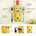 """[ОПТ] Дозатор для зубной пасты """"Миньон"""" с держателем зубных щеток. Диспенсер для зубной пасты """"Миньон"""", фото 5"""