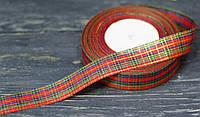 Декоративная лента 2,5см шотландка