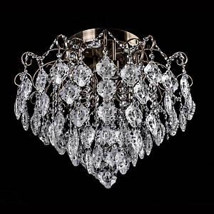 Хрустальная люстра, классическая с LED подсветкой на 6 лампочек P5-E1151B/6+6/AB
