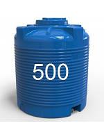 Емкость пластиковая двухслойная вертикальная з объемом 500 литров.