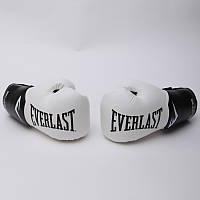 Перчатки боксерские PU на липучке EVERLAST  PRO STYLE ELITE (р-р 12-14oz, белый-черный)