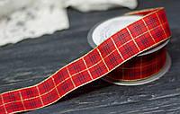 Декоративная лента 4см шотландка- ПРЕМИУМ, фото 1