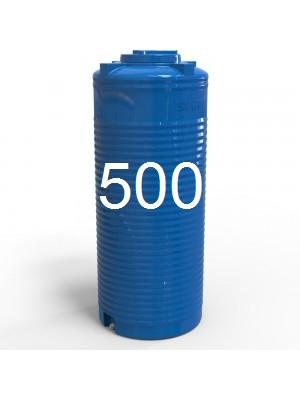 Емкость пластиковая двухслойная вертикальная узкая 500 литров.