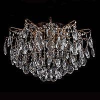 Хрустальная люстра классичесская с LED подсветкой на 6 лампочек Прометей P5-E1378/6+6/FG