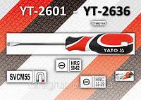 Отвертка шлицевая 6,0 х 100мм., YATO YT-2613, фото 1