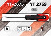 Отвертка шлицевая 4,0 х 200мм., YATO YT-2678, фото 1
