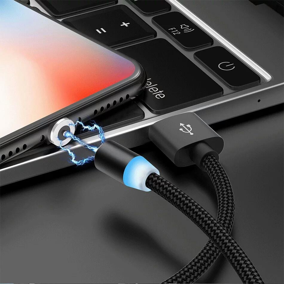 Магнитный USB кабель 2 метра Uslion прямой, micro usb