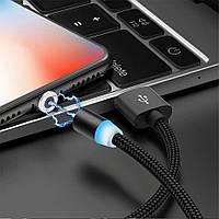 Магнитный USB кабель 2 метра Uslion прямой, micro usb, фото 1