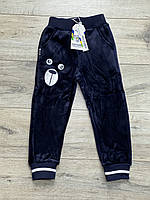 Теплые велюровые спортивные штаны на меху. 6- 8 лет.