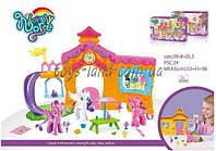 Домик для куклы My Little Pony OSB8032 с горкой,фигурки,столик,аксессуары в кор. 39*8*25,5cм