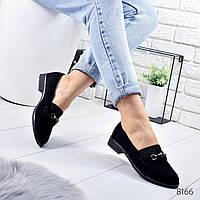 Туфли женские Tracy черные замша
