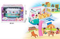 Машина для куклы 7889  фургон с куколками и мебель, в кор.28*20*15,5 см