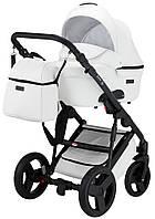 Универсальная детская коляска Bair Leo кожа 100% GN-99 белый, фото 1