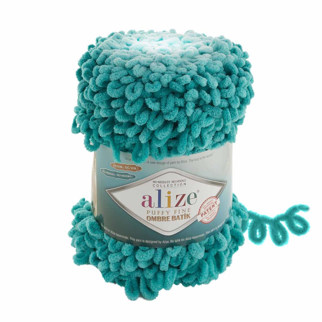 Puffy Fine Ombre Batik №7246