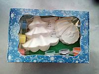 Новогодний набор гипсовых фигурок для творчества. Різдвяний набір гіпсових фігурок для творчості №94