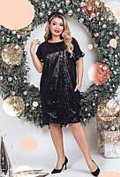 Маленькое черное платье 56351 (50–60р) в расцветках, фото 1
