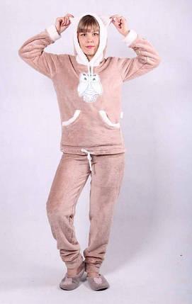 Красивая женская махровая пижама, фото 2