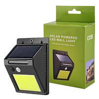 Настенный Уличный фонарь с датчиком движения и солнечной батареей SH-1605-COB