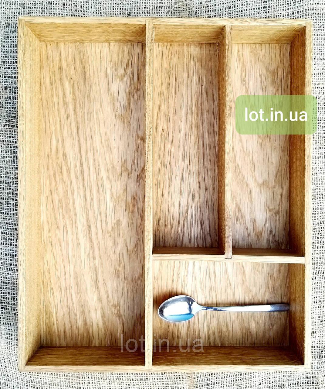 Деревянный лоток для столовых приборов Lot 104 300х400. (индивидуальные размеры)