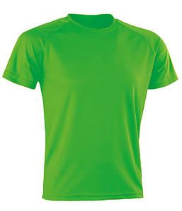 Спортивная сетчатая футболка Флуоресцентный Зеленый S