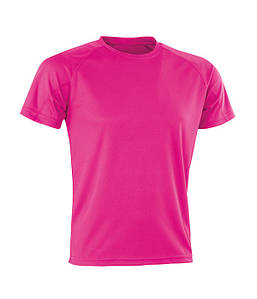 Спортивная сетчатая футболка Флуоресцентный Розовый M