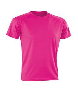Спортивная сетчатая футболка Флуоресцентный Розовый XL