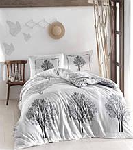Комплект постельного белья ранфорс  Altinbasak  Tree Gri