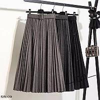 Плиссированная женская юбка 5251 СО, фото 1