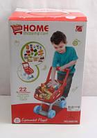 Набор Магазин игрушечный 668-06/07 тележка (размер: 20*33*40,5см), продукты, 22 предмета, в кор. 21*20*31