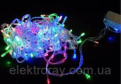 Светодиодная гирдянда 100 LED 9м микс, прозрачный провод