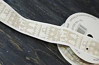 Лента декоративная ткань\проволочный край 90см, фото 1