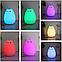 Силиконовый ночной светильник Счастливый котик (7 цветов свечения), фото 3
