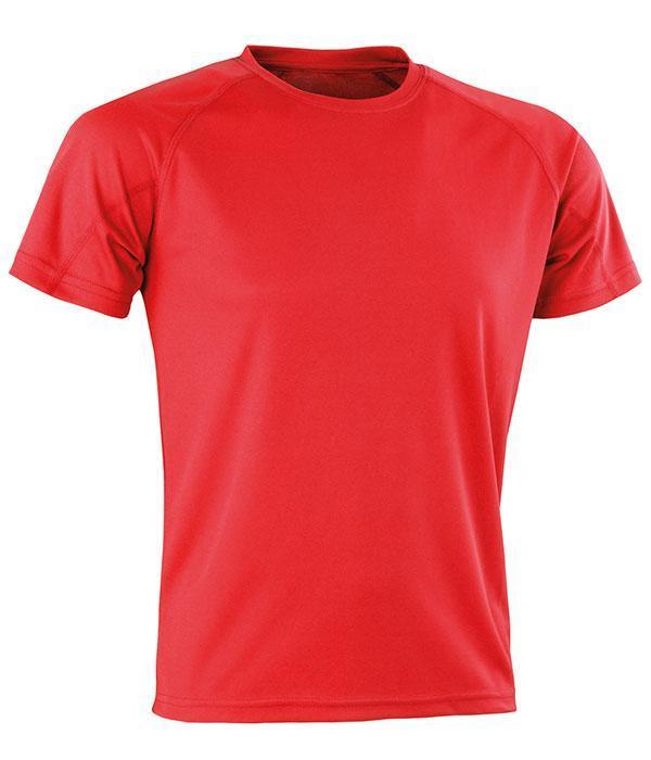 Спортивная сетчатая футболка Красный XL