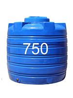 Емкость пластиковая двухслойная вертикальная ч объемом 750 литров.