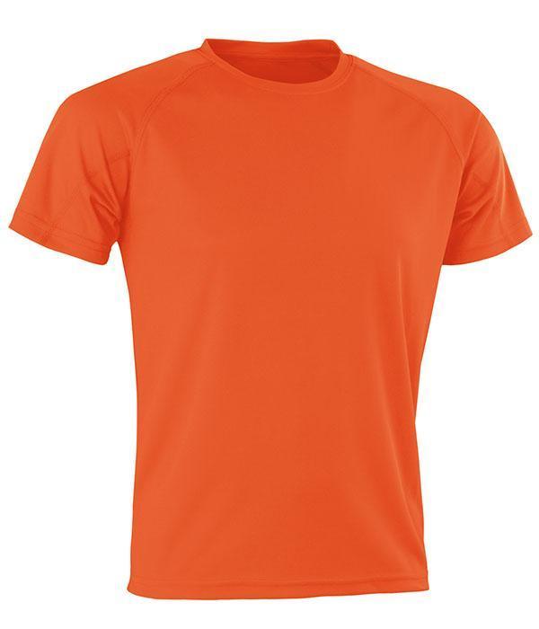 Спортивная сетчатая футболка Оранжевый 3XL