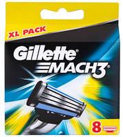 Лезвия для бритья Gillette Mach 3, 8шт