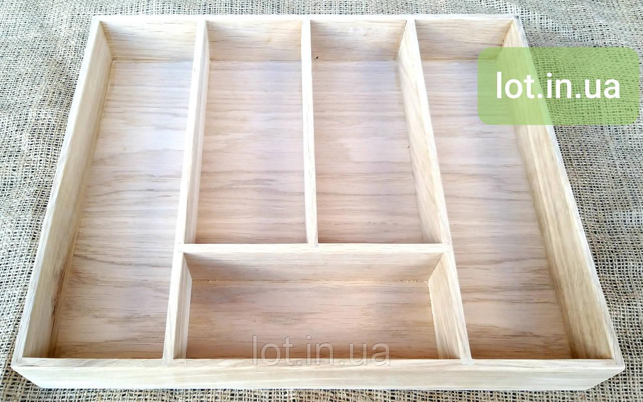 Деревянный лоток для столовых приборов Lot 305 400х400. (индивидуальные размеры)