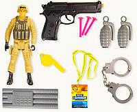 Военный набор игрушечный 88666  в пакете 35*15см
