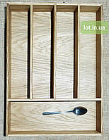 Лоток для приборов из дуба Lot  505 400х400. (индивидуальные размеры), фото 1