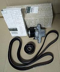 Комплект ремня генератора Renault Symbol/Clio 2 с Г/У и А/С 1.4-1.6 8V (оригинал)