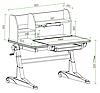 Комплект для школьников Fundesk парта Magico Grey+ортопедическое кресло Primavera II Blue+тумбочка SS15W, фото 3