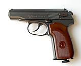 Пістолет Макарова пневмат ПМ рухомий затвор БЛОУБЭК - повна копія + ВІДЕО, фото 6