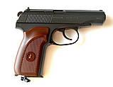 Пістолет Макарова пневмат ПМ рухомий затвор БЛОУБЭК - повна копія + ВІДЕО, фото 7