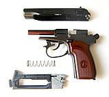 Пістолет Макарова пневмат ПМ рухомий затвор БЛОУБЭК - повна копія + ВІДЕО, фото 5