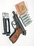 Пістолет Макарова пневмат ПМ рухомий затвор БЛОУБЭК - повна копія + ВІДЕО, фото 4