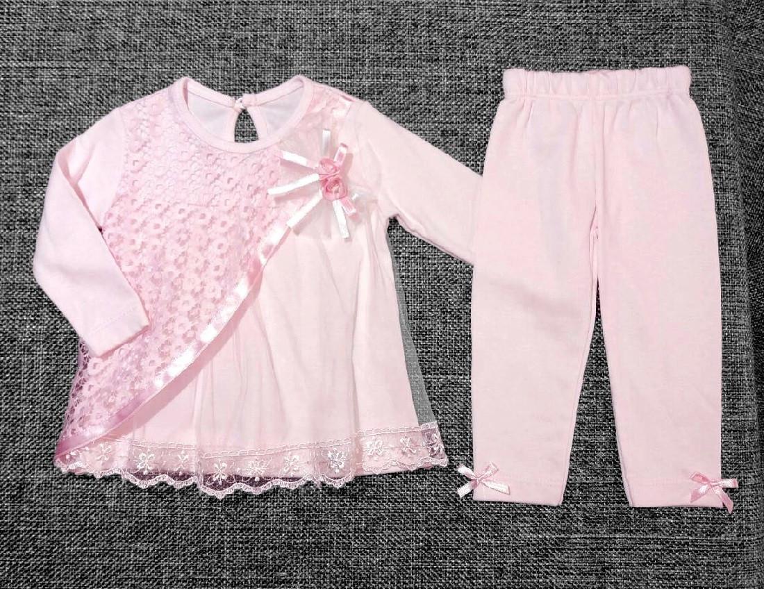 Очень нежный нарядный костюм для новорожденной девочки р. 6, 9, 12 мес. МАЛОМЕРИТ (на подарок, крещение, выпис