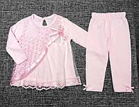 Очень нежный нарядный костюм для новорожденной девочки р. 6, 9, 12 мес. МАЛОМЕРИТ (на подарок, крещение, выпис, фото 1