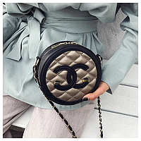 Сумки женские брендовые модная круглая стеганная Melisa