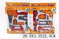 Набор инструментов игрушечный 36778-44 (1474284)  2вида, пила, молоток и др., в коробке 20*3,5*22,5см