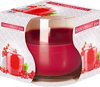 Свеча ароматическая в стекле Bispol красная смородина 7 см (sn71-251)